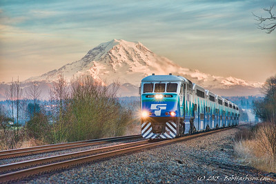 Sounder and Mount Rainier