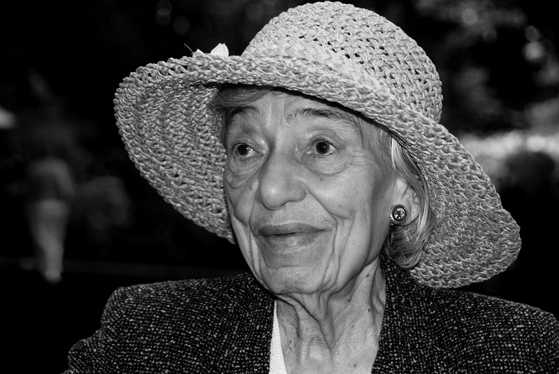 Landon Alalea Festival --Helen Janiszewski Fairfax VA is an 85 year old artist.  She came to study the azaleas for her paintings.
