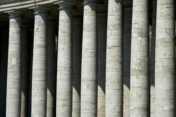 Columns in the sun