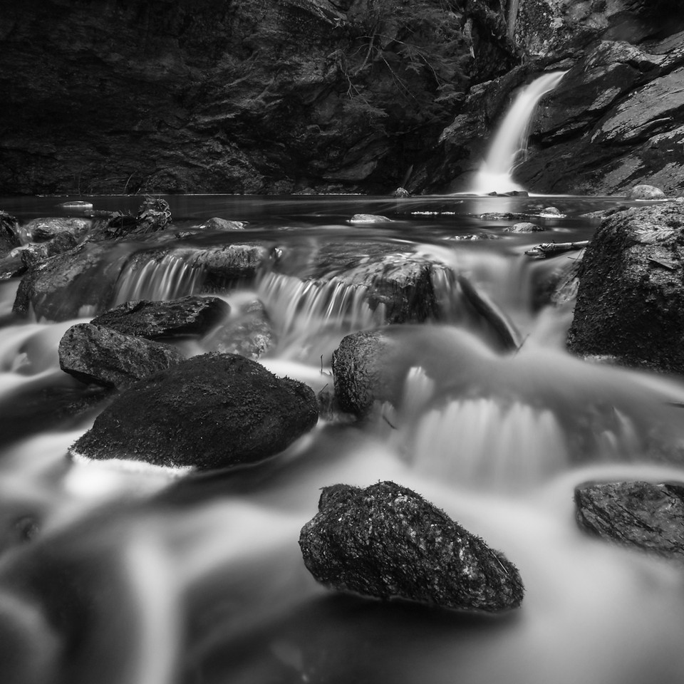 Despite Hurricane Sandy only one side of Upper Purgatory falls was actually falling. That meant putting the tripod in the water again because the movement over these rocks was more interesting.