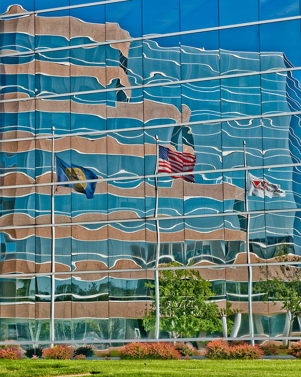 Abstract reflection of Omaha