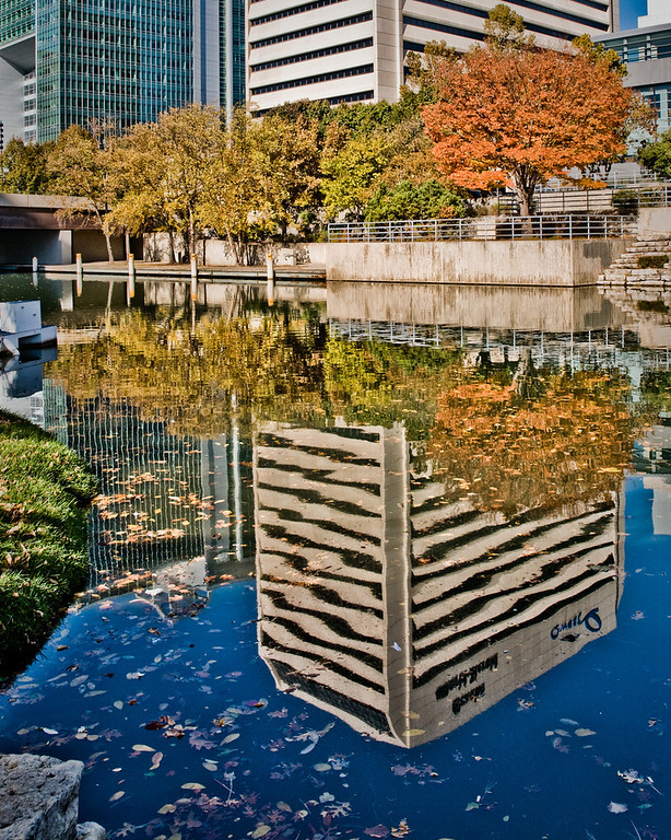 Reflection of Downtown Omaha