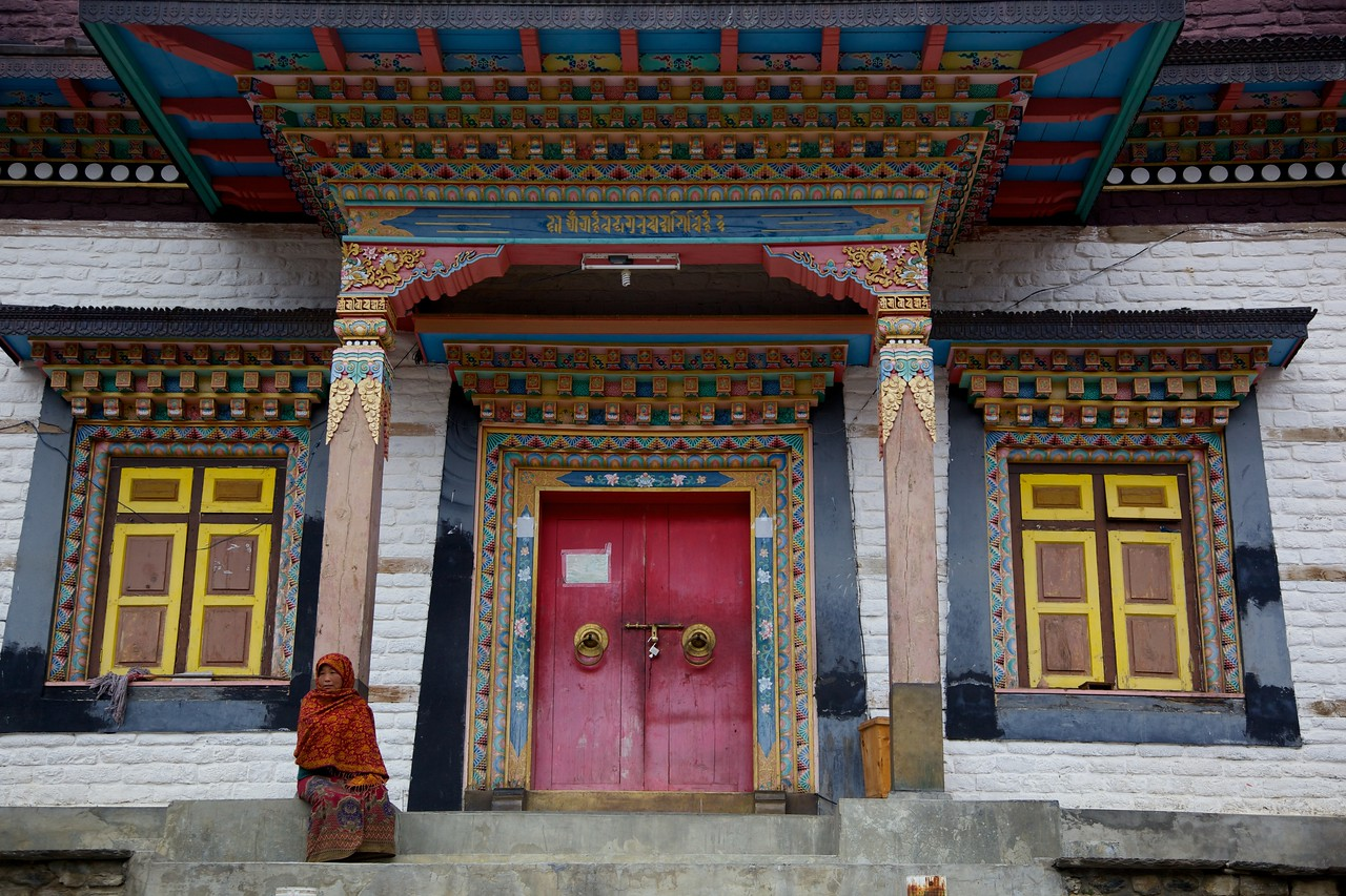 Buddhist Monastery in Upper Pisang