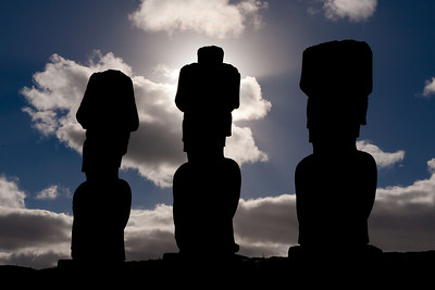 Be they standing or toppled, the Moai give us a hint of past events on Rapa Nui.  Much of that past was lost due to war, plague, or burning of written records by missionaries.  Oral traditions combined with modern archaeology allow us to glimpse into the mysteries of Rapa Nui and to speculate about the root causes of such destruction.  TQ 2010 memory book image 10 of 11