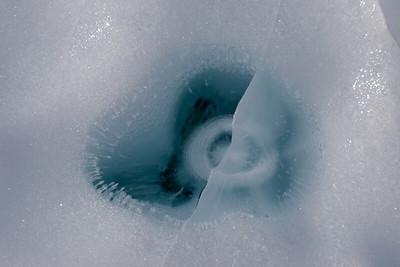 Sinking Antarctic rock