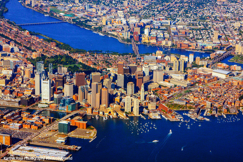 Boston skyline, Charles River, Massachusetts