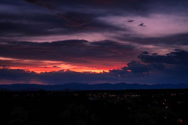 Sunset over Santa Fe