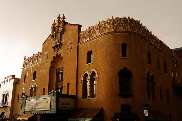 The Lensic Theater in a Rainstorm - Santa Fe