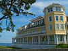"Side view of  ""The Ocean House"" , a grand old Victorian hotel in Watch Hill, RI"