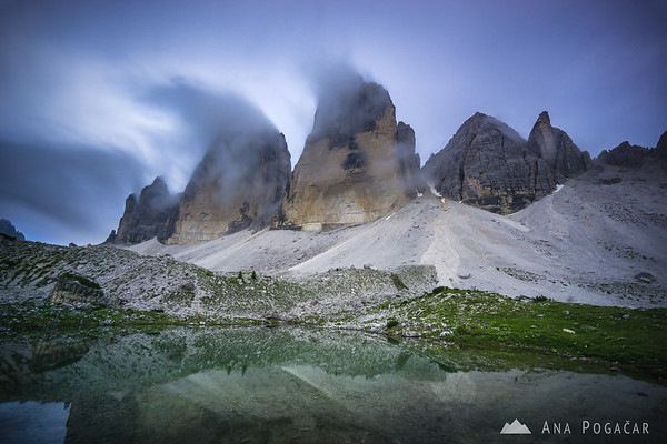 Mists chasing around Tre Cime di Lavaredo