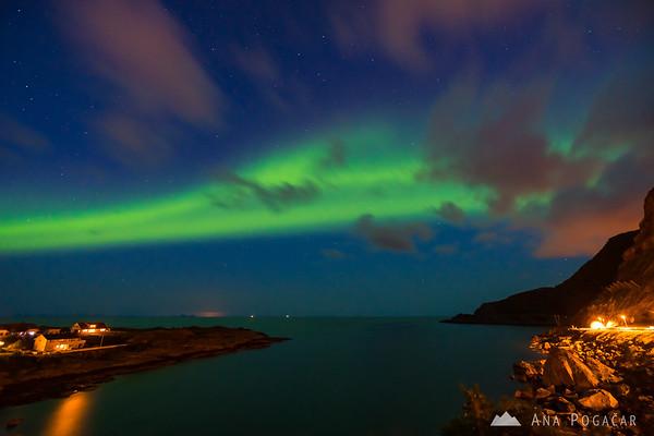 Northern lights over Reine