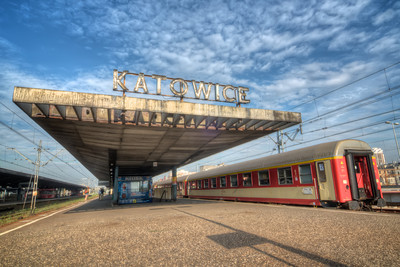The station, finished in the 1972, is an example of modern architecture.  Both the domestic and the international connections run from there to almost every major city in Poland and Europe.