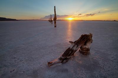 posts at the Great Salt Lake