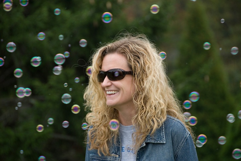Kensington Kites -- Kathleen Eloner loves the bubbles.  She and her husband are looking for a home in  Kensington  (WJHS).