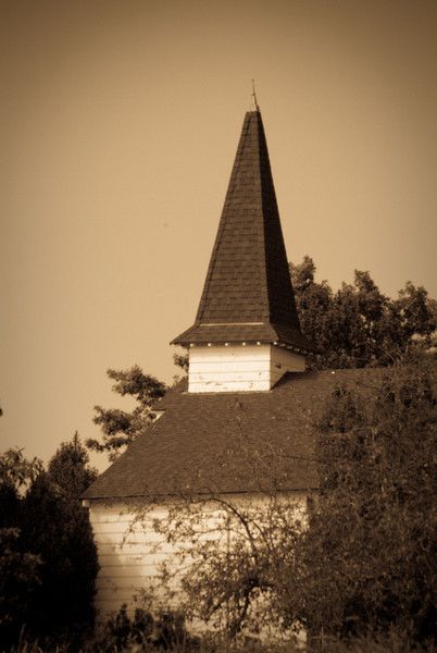 Historic Chapel building at Discovery Park, Seattle, Washington.