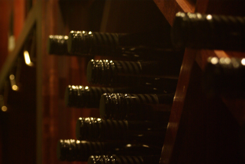 Wine storage at Aviator Winery in Prosser WA 6/13/09
