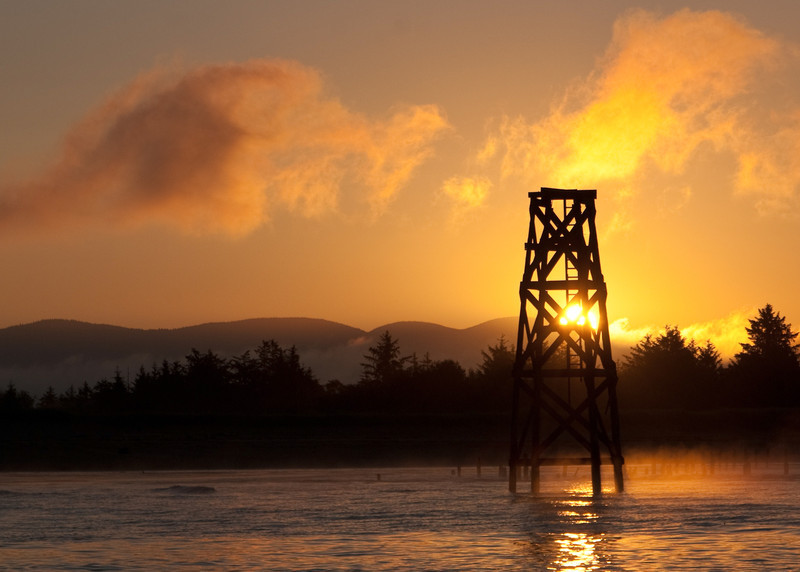 Sunrise and Wood Tower