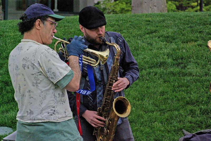 Musicians at Seattle Center, April 2009