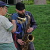 Musicians at Seattle Center, April 2009