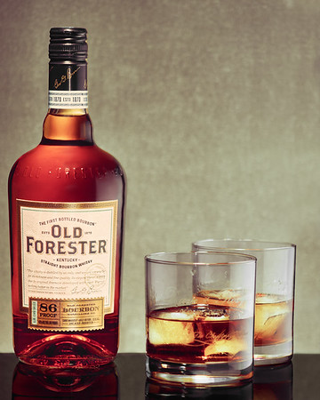 Old Forester Beverage and Cocktail Photography