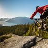 Mountain biking Pretty Slabs trail, Brittania, Sea to Sky British Colombia, Canada