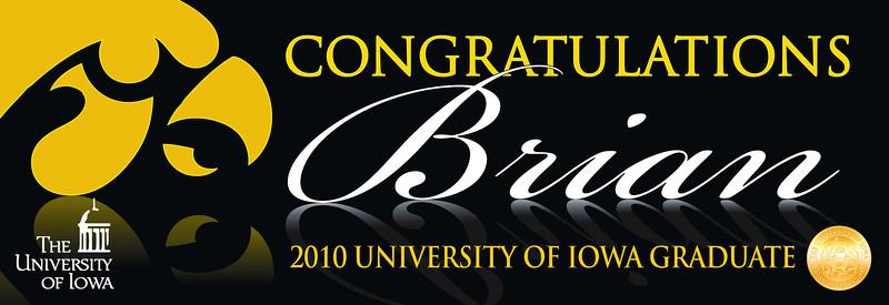 Iowa Graduation Banner