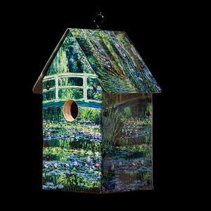 Monet's Water Lilies Under a Bridge Birdhouse