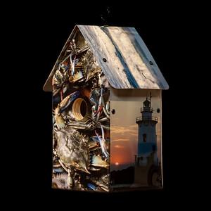 Southern New England Coastal Scenes Birdhouse