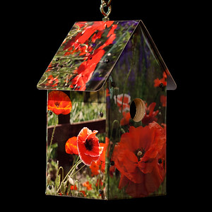 Williamsburg Poppies Birdhouse
