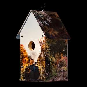 CT River Valley Autumn Scenes Birdhouse