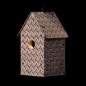 Diamond Plate Birdhouse