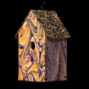 Marbled Papers Birdhouse