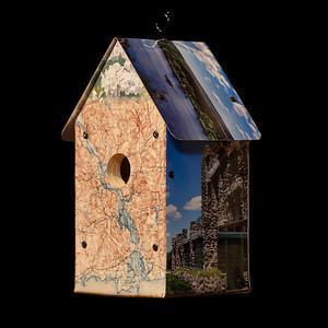 CT River Valley Scenes Birdhouse