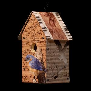 Bach, Beethoven, Bluebird Birdhouse