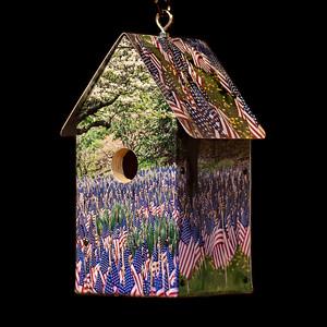 Memorial Flags Birdhouse