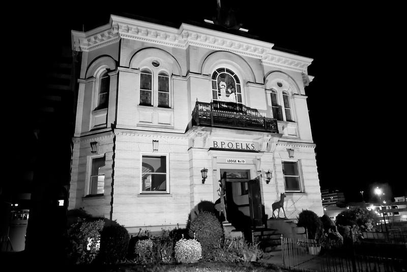 The BPO Elks Lodge #19 at is striking at night. Hartford, CT
