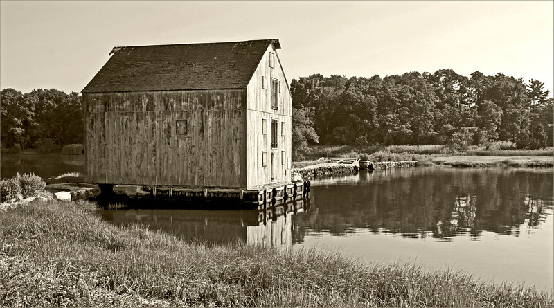 Tidal Mill in sepia