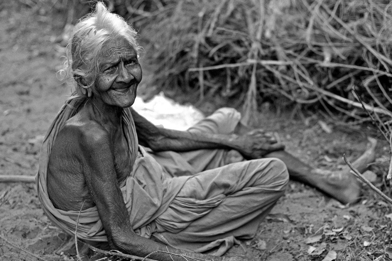 Old lady in rural India.