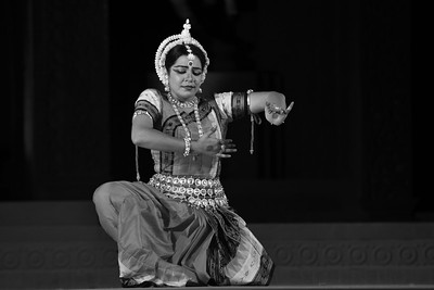 Odissi Dance by Meera Das, Cuttak.  The Konark Dance & Music Festival held from February, 19th to 23rd, 2010 was organized by Konark Natya Mandap.  For more details see  http://www.konarknatyamandap.org/   The festival takes place in an open-air auditorium and enlivens the spirit of the sculptures of Konark temple which is just a short distance away. The festival brings in the spirit of merry to all the onlookers. The music reverberates and combined with the sounds of the ankle bells of the dancers enthralls the audiences. The elegant steps and expressions of the dancers makes the event so captivating that no one can ever forget it.