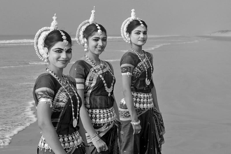 Dancers from Guru Gangadhar Pradhan's  Konark Natya Mandap at the Konark beach in Orissa. <br /> <br /> Shot during the Konark Dance & Music Festival held from February, 19th to 23rd, 2010 was organized by Konark Natya Mandap.