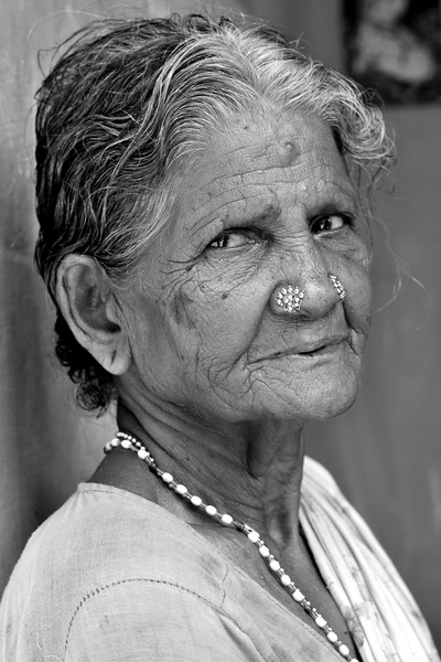 Old lady in South India.