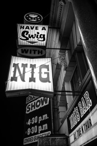 """""""Nig's Place""""  The historic Nig's Bar in downtown Wisconsin Dell's, Wisconsin."""