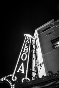 The old and  historical Balboa Theatre built in 1924 in downtown San Diego, California. Located at Horton Plaza but not part of Horton plaza.