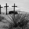Crosses at the Morada.
