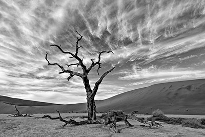 Deadvlei Sky in B & W, Iceland