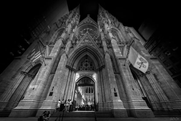 St. Patrick's in Black and White