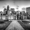 new Romare-Bearden park in uptown Charlotte North Carolina earl