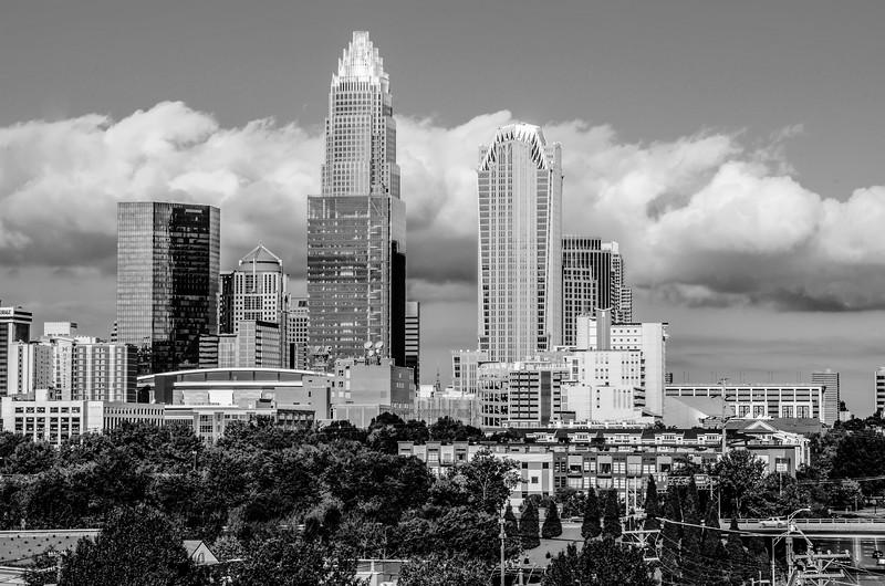 skyline of a modern city - charlotte, north carolina, usa