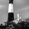 tybee island beach lighthouse with thunder and lightning