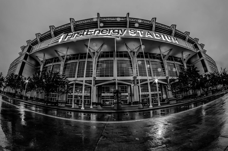 CLEVELAND - JUNE 23,2014: FirstEnergy Stadium exterior view  in Cleveland. It is home of NFL team Cleveland Browns.